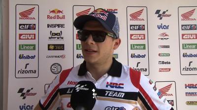 Bradl fifth in race despite heavy Q2 crash