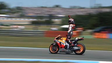 Márquez fête ses 100 Grands Prix avec une première victoire à Jerez