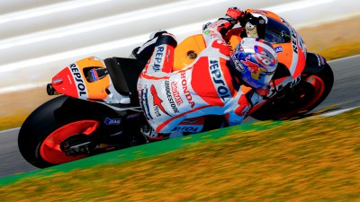 Pedrosa and Marquez review productive test