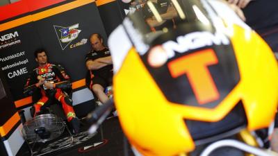 Corsi e o primeiro contacto com uma máquina de MotoGP™
