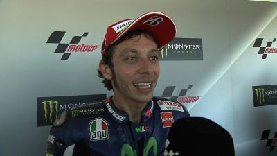 Rossi continua a salire sul podio