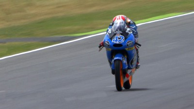 Pole man Rins in front of the pack despite crash