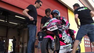 Die Moto2™ beendet ersten Test innerhalb der Saison 2014  in Mugello