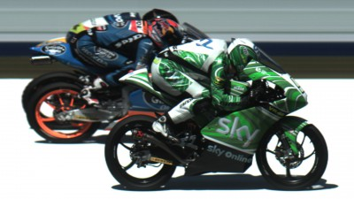 Fenati, Viñales and Rins' historisch engstes Podium Finish