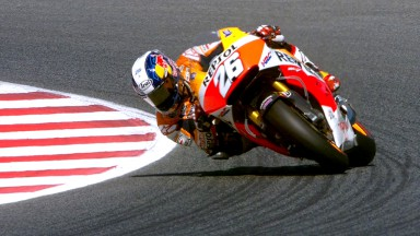 Pedrosa secures pole start as Marquez run ends with crash