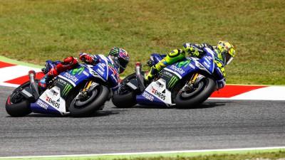モビスター・ヤマハのロッシとロレンソは2位表彰台と4位