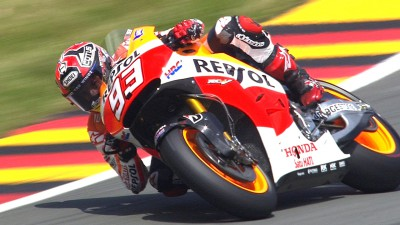 Record breaker Marquez takes pole with fastest ever Sachsenring lap