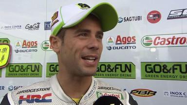 Bautista y Redding analizan la carrera de Sachsenring