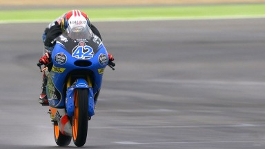 Rins ahead in wet Friday practices