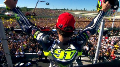 Rossi claims first win of 2014 as Marquez crashes