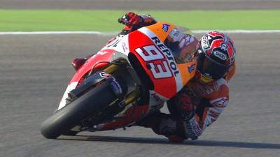 Sensacional prestação na Q2 coloca Márquez na pole