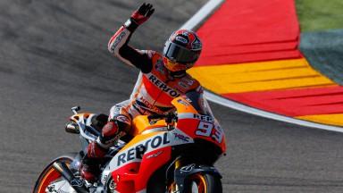 Repsol Honda Duo dominiert Qualifying in Aragon
