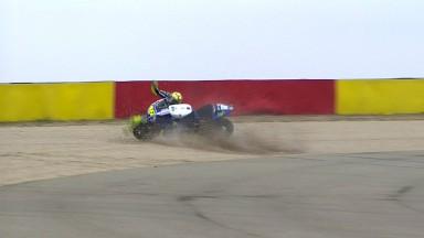 Rossi, tras su caída en MotoLand: 'Estoy al cien por cien'