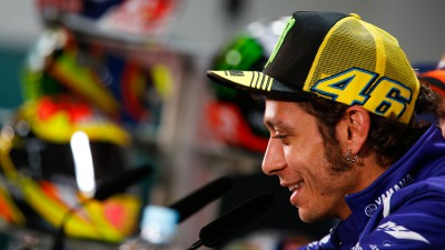 Rossi habla de la seguridad tras su caída en Aragón