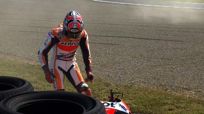 Marquez recovers from crash to place second in FP1