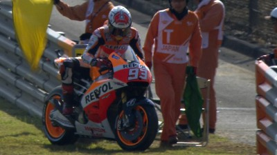 Third practice in Japan led by rapid Marquez despite early problem