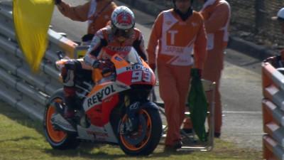 Márquez lidera la FP3 de Japón pese a un problema técnico inicial