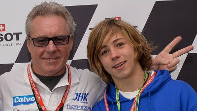 MotoGP™ Legend Gardner believes son Remy on the right track