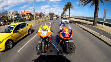 Pedrosa and Miller #RideMelbourne en route to Phillip Island