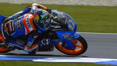 Marquez the pole setter in smaller class
