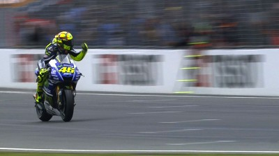 Rossi takes 82nd premier class victory in incident packed race