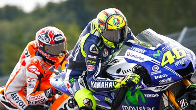 Rossi on a high in second as Marquez looks to win again