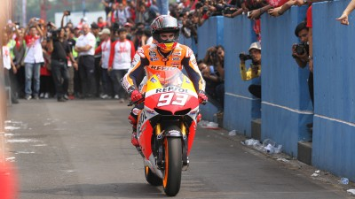 Repsol Honda duo ride in Indonesia for first time