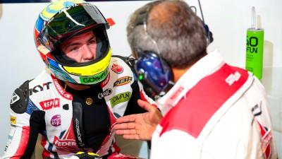 Siméon in sella a una Kalex nel 2015 con il Team Federal Oil Gresini Moto2