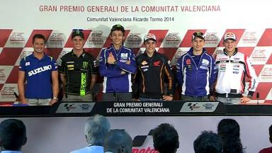 MotoGP™-Spitzenpiloten und Wildcardler de Puniet bei Valencia-Pressekonferenz