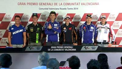Protagonistas do MotoGP™ e wild card De Puniet juntam-se em antevisão de Valência