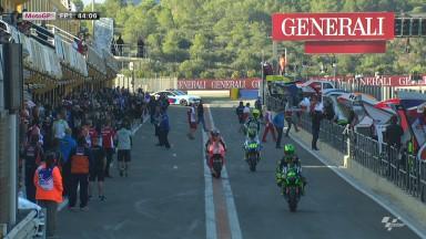 Márquez, el más veloz en el arranque del fin de semana en Valencia