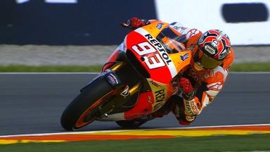 Márquez encabeza la jornada del viernes en Valencia