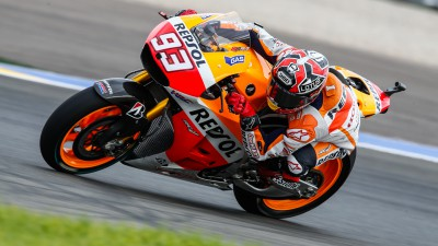 Marquez marginally ahead in morning Warm Up