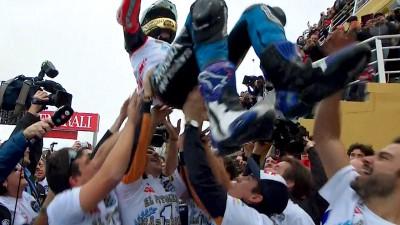 Márquez se proclama campeón y Miller se despide con una victoria