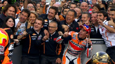 Marquez ends season in style with record 13th victory