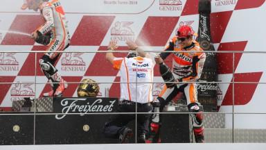 レプソル・ホンダ、今季8度目のダブル表彰台でチーム部門を連覇