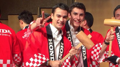 Márquez e Pedrosa a Tokio per celebrare la stagione 2014