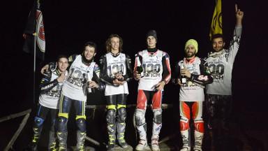 Rossi se bate con los jóvenes talentos en los '100 kms del Ranch'