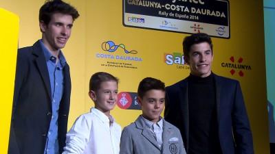 Les frères Márquez assistent aux RACC Awards 2014