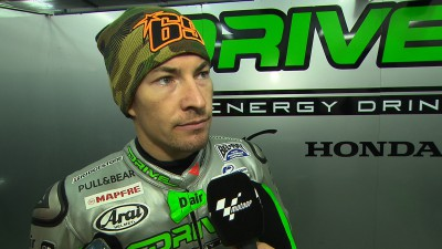 Hayden rides new RC213V-RS in wet as incoming teammate Laverty continues work