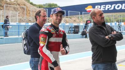 Folger da seis vueltas y anota el mejor tiempo en el test en Jerez