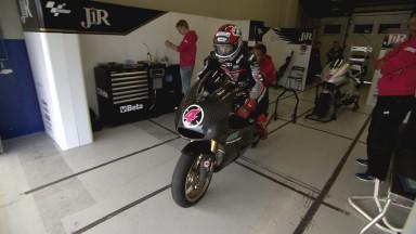 Krummenacher, delante en el cierre del test en Jerez
