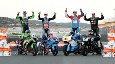 Quartararo en Moto3™, Raffin en Moto2™y Noyes en Superbike, campeones FIM CEV Repsol 2014
