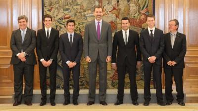 El Rey Felipe VI recibe a los tres campeones del mundo españoles
