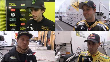 Rider reactions from day 3 at Valencia test