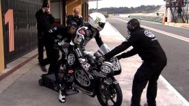 The Moto3 pack reacquaint themselves with the Valencia track as they prepare for the 2015 season.