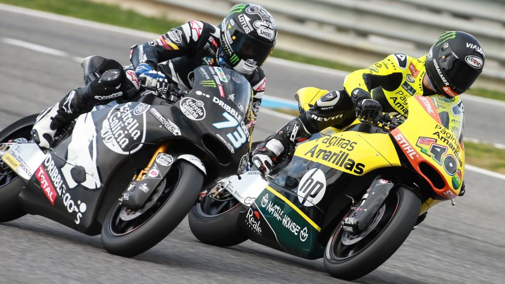 Alex Marquez, Luis Salom, Estrella Galicia 0,0 Marc VDS, Paginas Amarillas HP 40, Jerez Test
