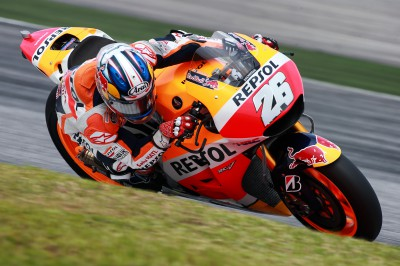 Pedrosa second fastest on day 1 at Sepang 2