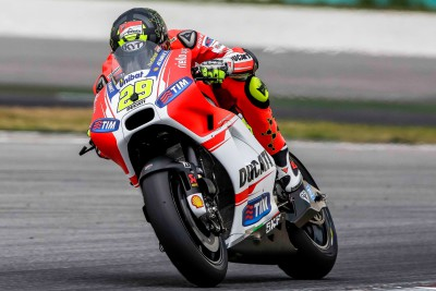Ducati GP15 makes track debut at Sepang