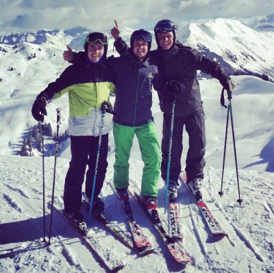 Skiing with Team mates